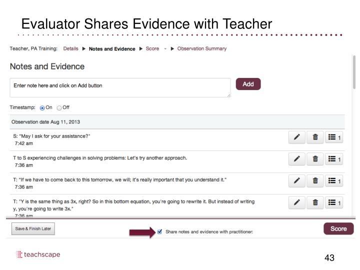Evaluator Shares