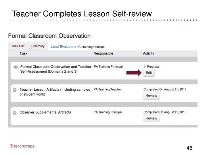 Teacher Completes