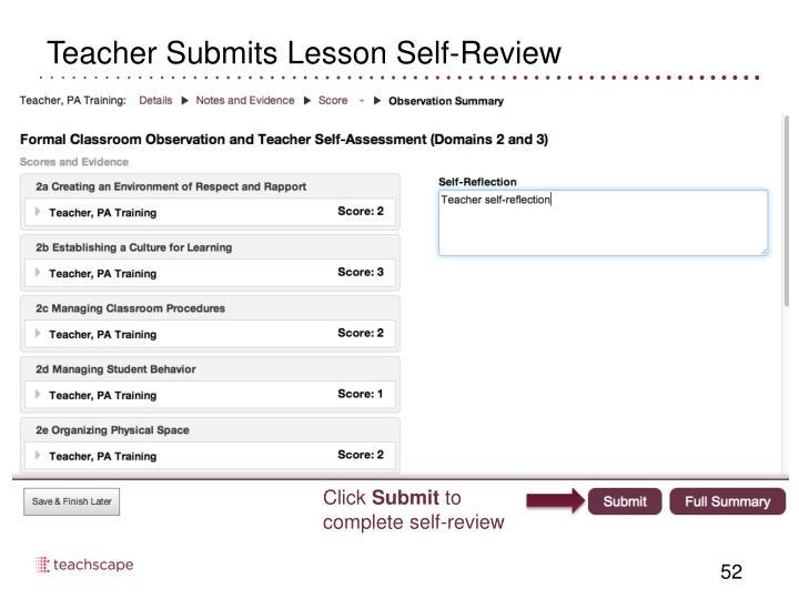 Teacher Submits