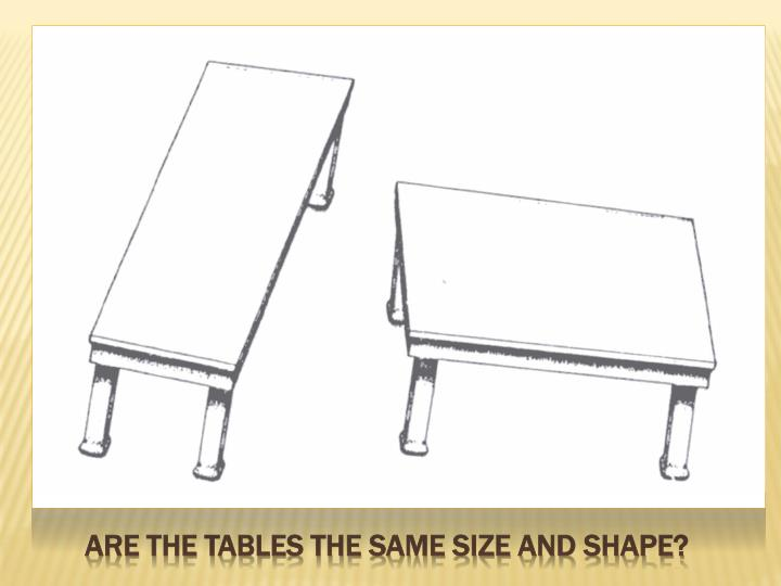 Are the tables the same size and shape?