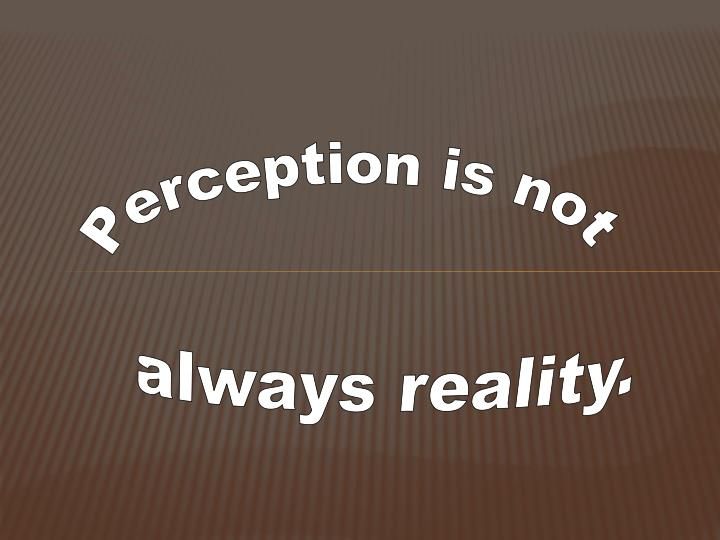 Perception is not
