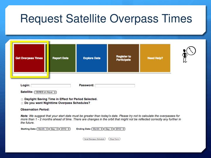 Request Satellite Overpass Times