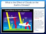 what is the effect of clouds on the earth s climate
