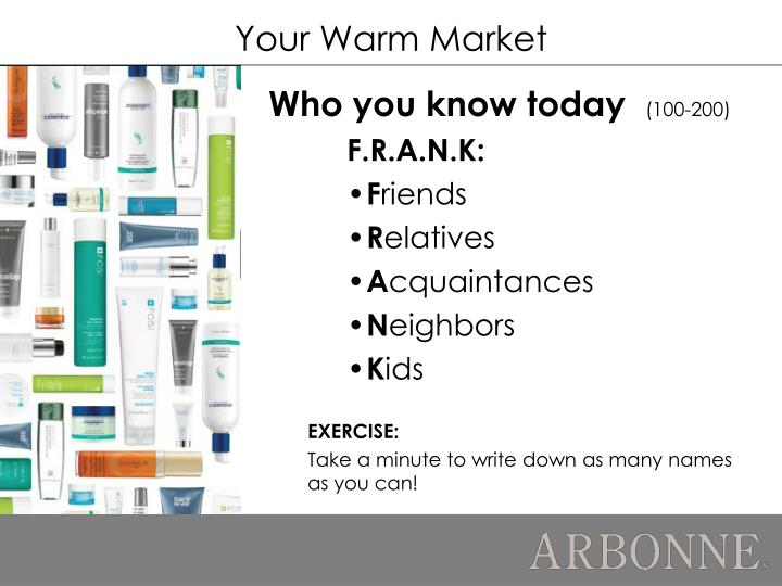 Your Warm Market