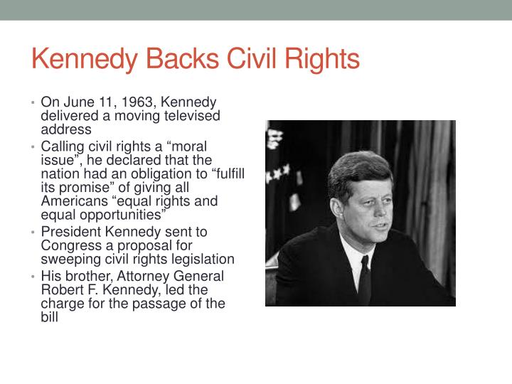 Kennedy Backs Civil Rights
