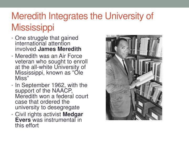 Meredith Integrates the University of Mississippi