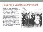 rosa parks launches a movement