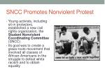 sncc promotes nonviolent protest
