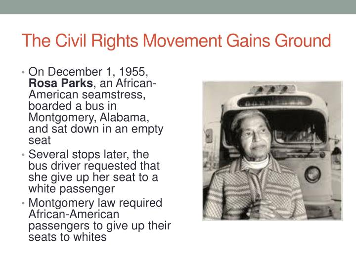 The civil rights movement gains ground
