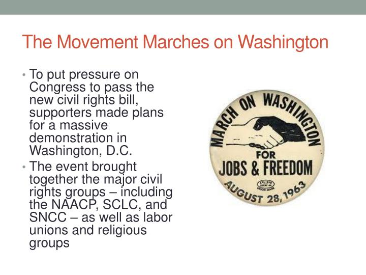The Movement Marches on Washington