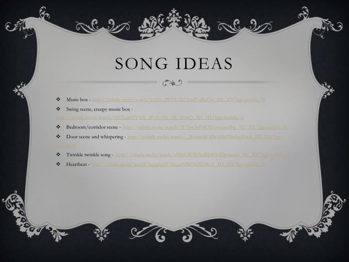 Song ideas