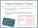 claims evidence t chart