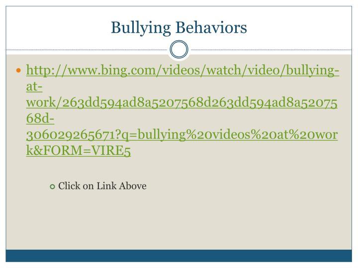 Bullying Behaviors