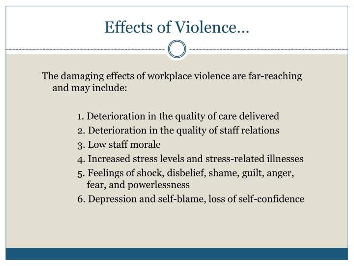Effects of Violence…