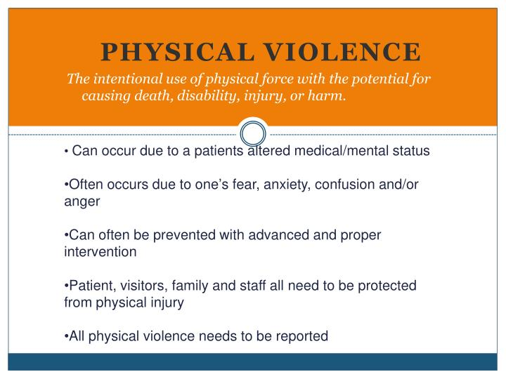 Can occur due to a patients altered medical/mental status