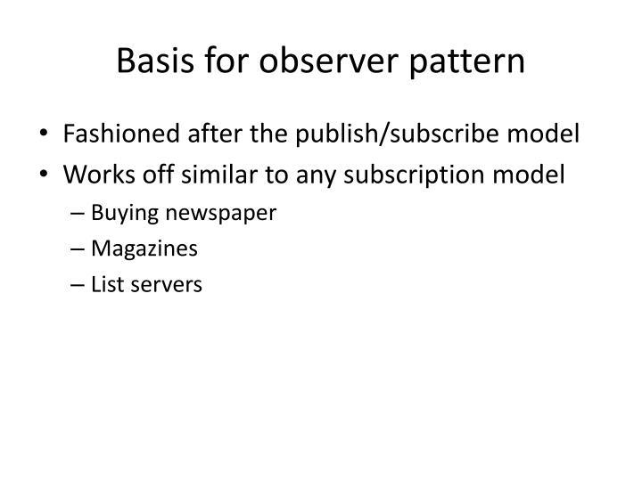 Basis for observer pattern