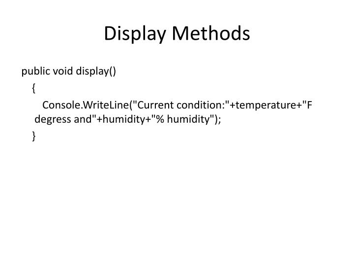 Display Methods