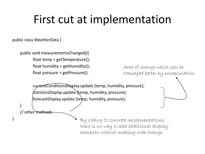 First cut at implementation