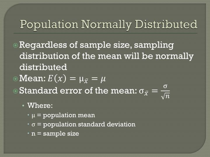Population Normally Distributed