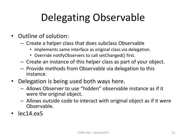 Delegating Observable