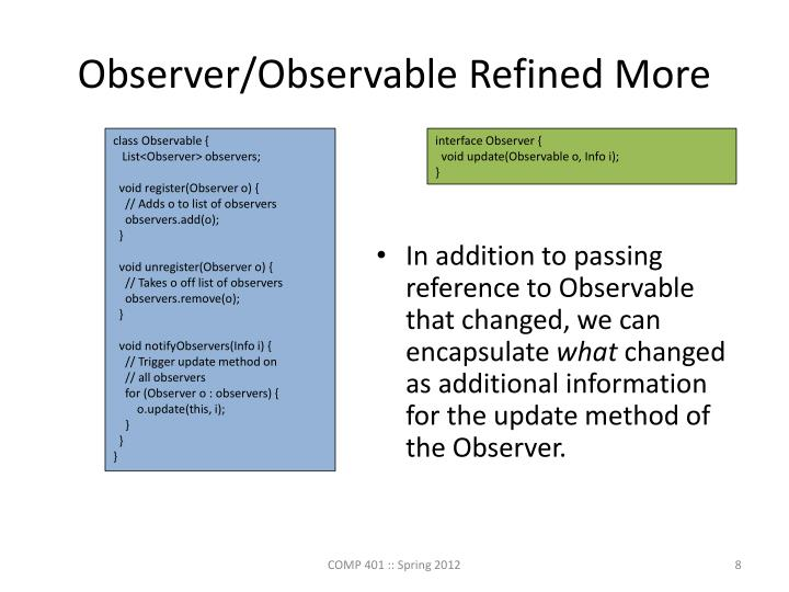 Observer/Observable Refined More