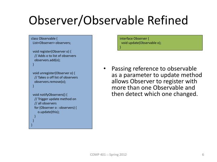 Observer/Observable Refined