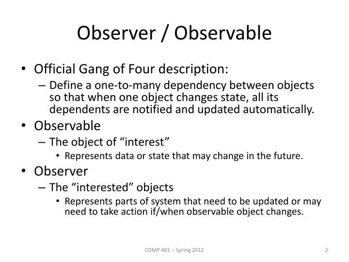 Observer / Observable