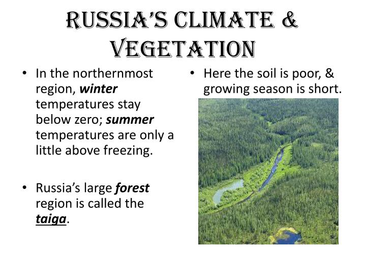 Russia's Climate & Vegetation
