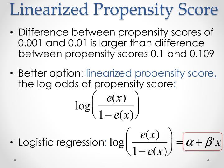 Linearized Propensity Score