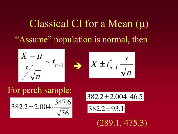 Classical CI for a Mean (