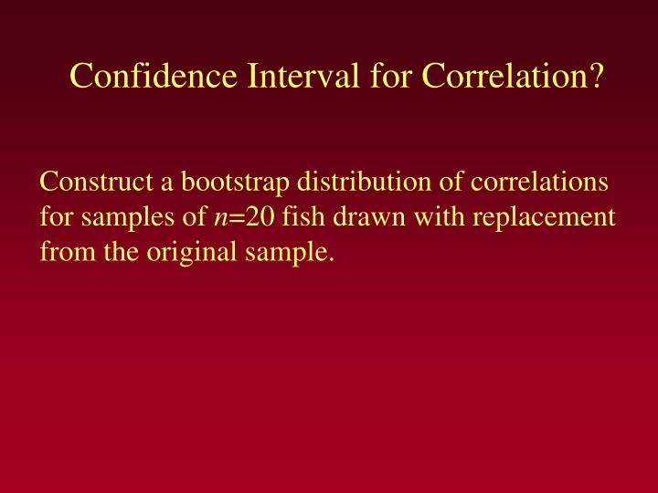 Confidence Interval for Correlation?