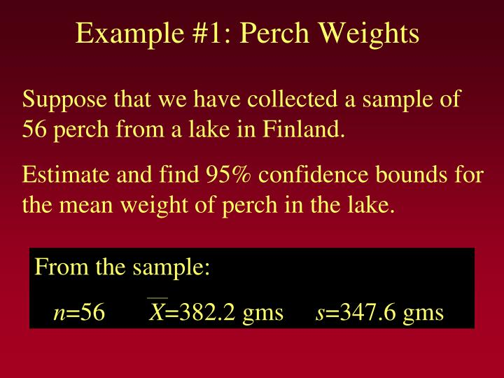 Example 1 perch weights