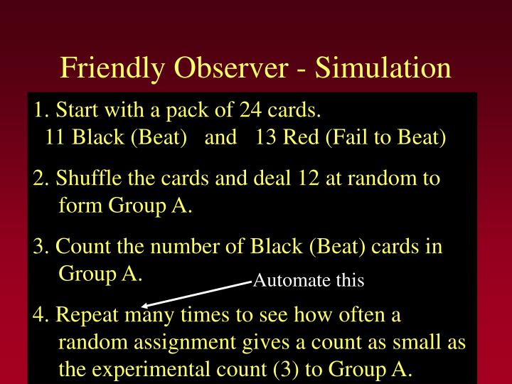 Friendly Observer - Simulation