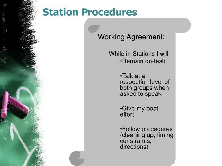 Station Procedures
