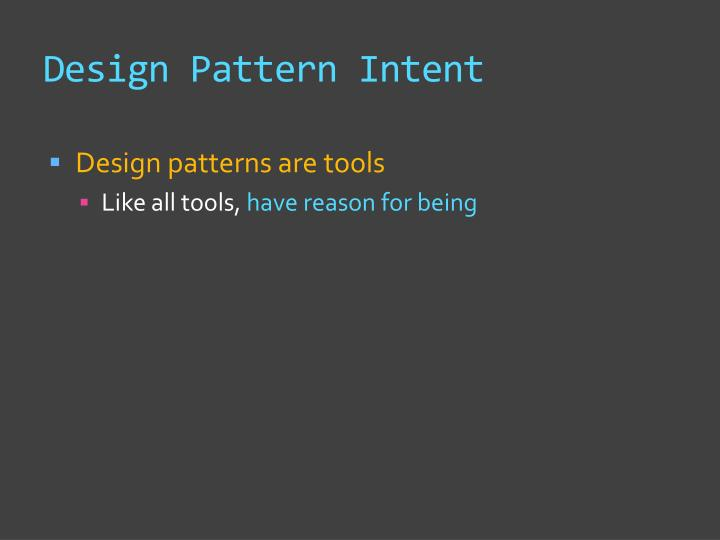 Design Pattern Intent