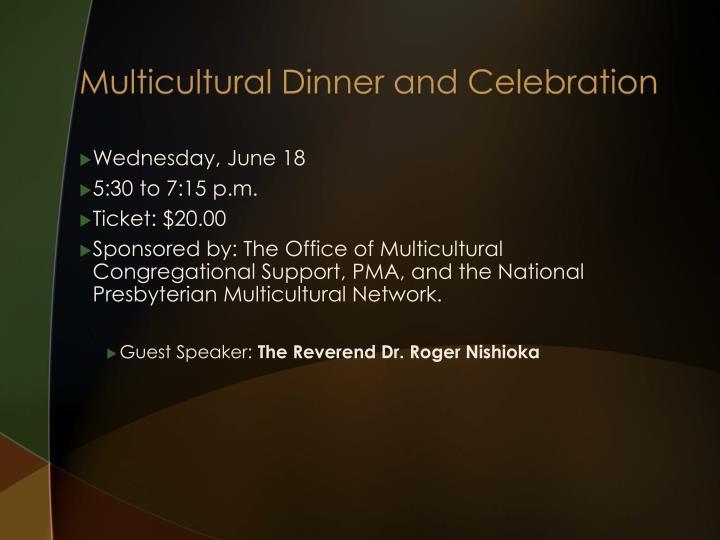 Multicultural Dinner and Celebration