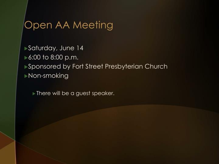 Open AA Meeting