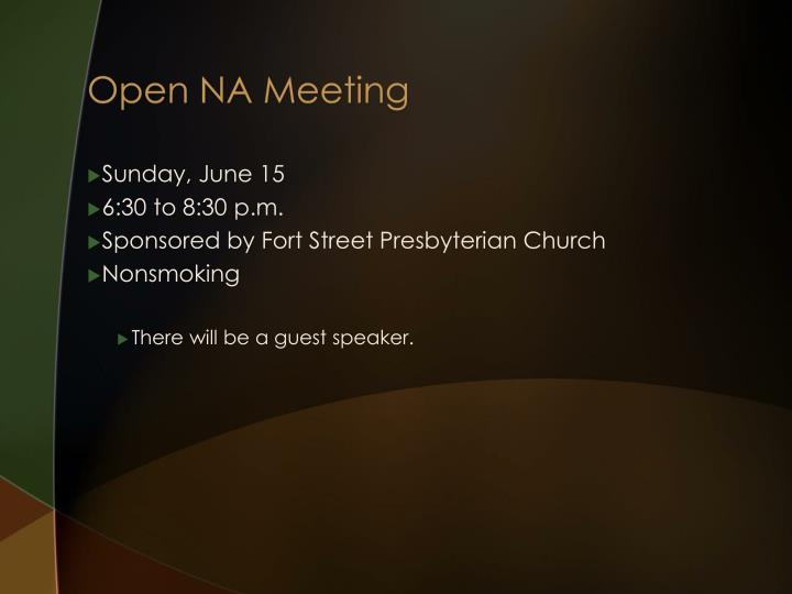 Open NA Meeting