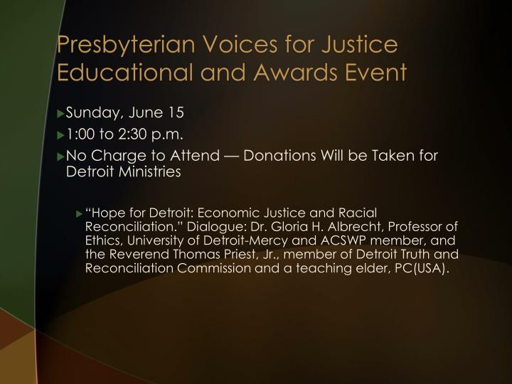 Presbyterian Voices for Justice