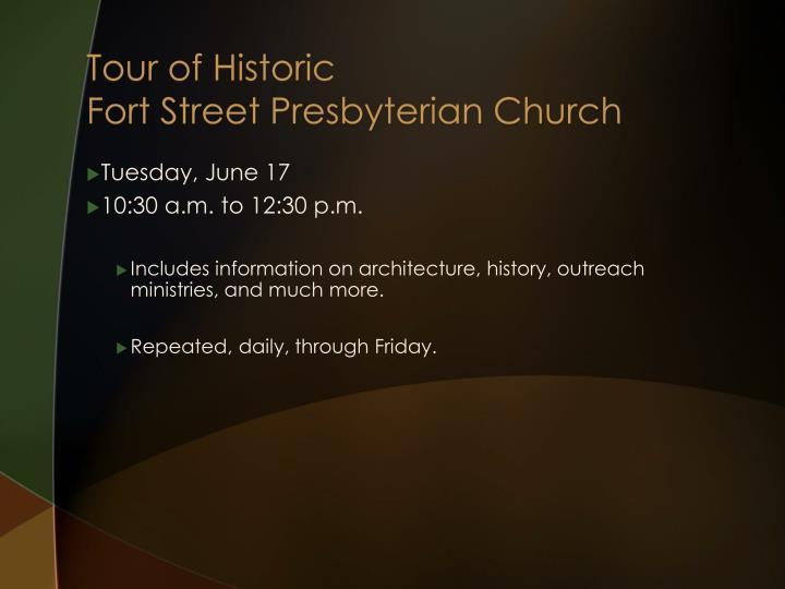 Tour of Historic