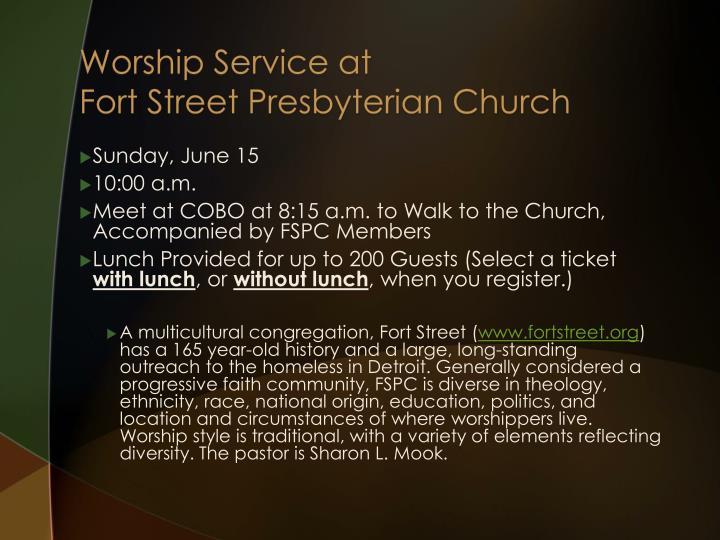 Worship Service at