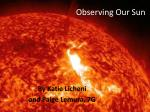 observing our sun