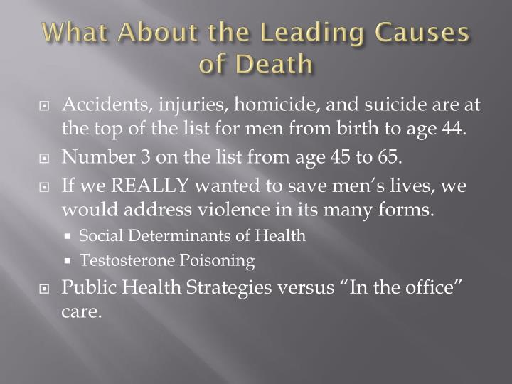 What About the Leading Causes of Death