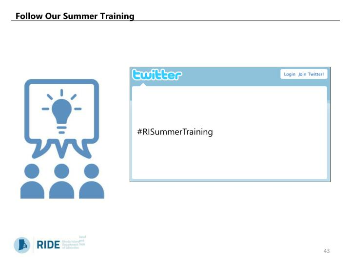 Follow Our Summer Training