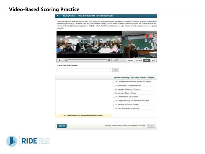 Video-Based Scoring Practice