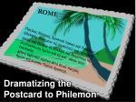 postcard to philemon