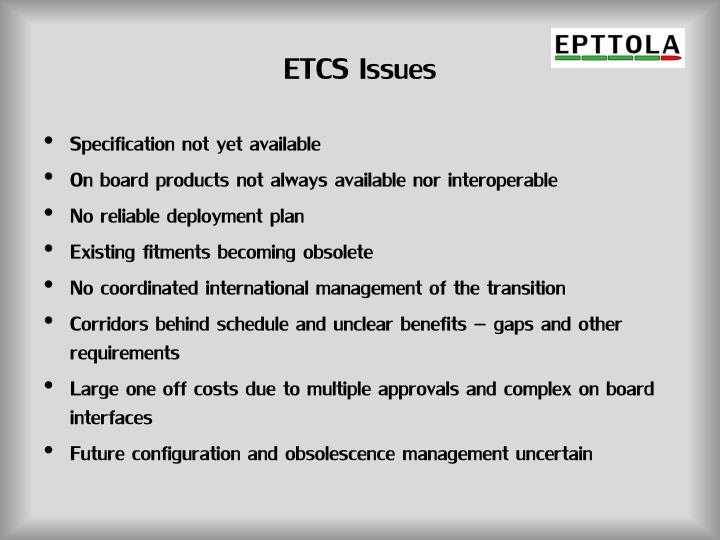 ETCS Issues