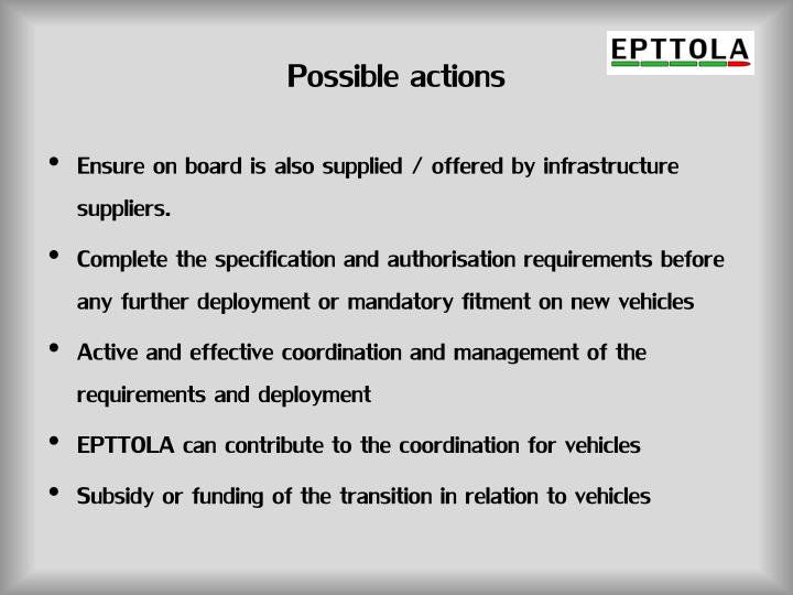 Possible actions