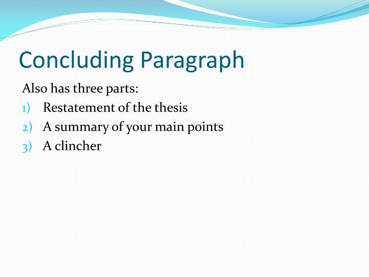 Concluding Paragraph