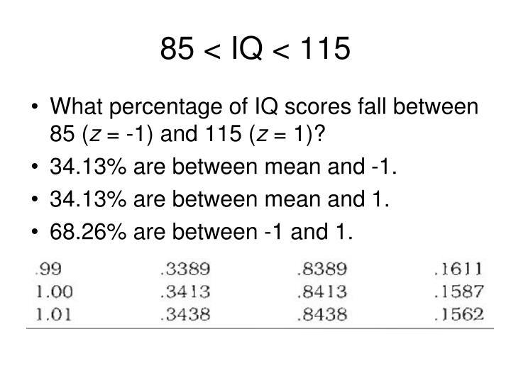 85 < IQ < 115